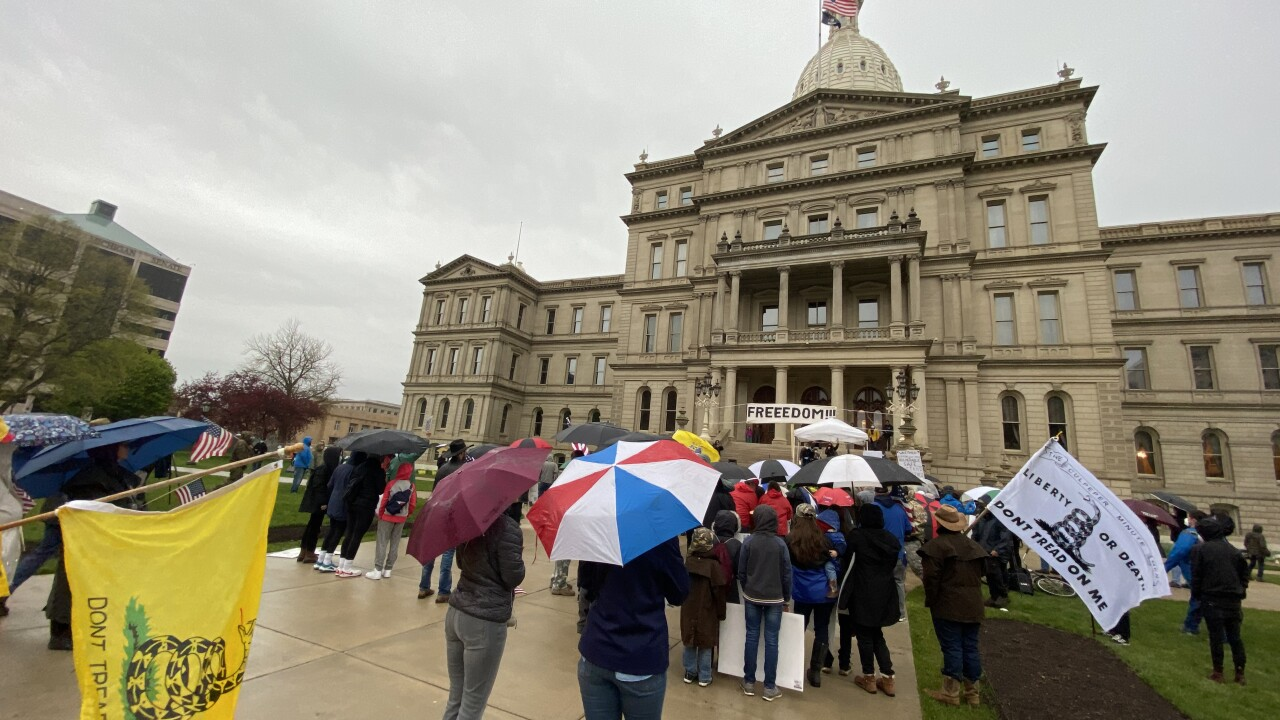 State Capitol at Judgement Day Protest
