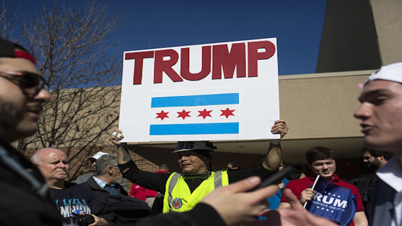 Donald Trump's Chicago rally canceled