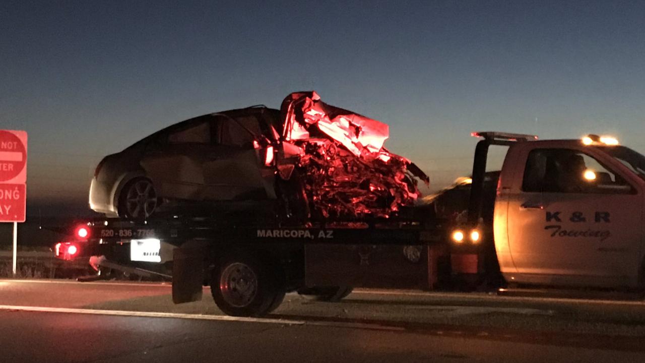 Maricopa wrong-way crash