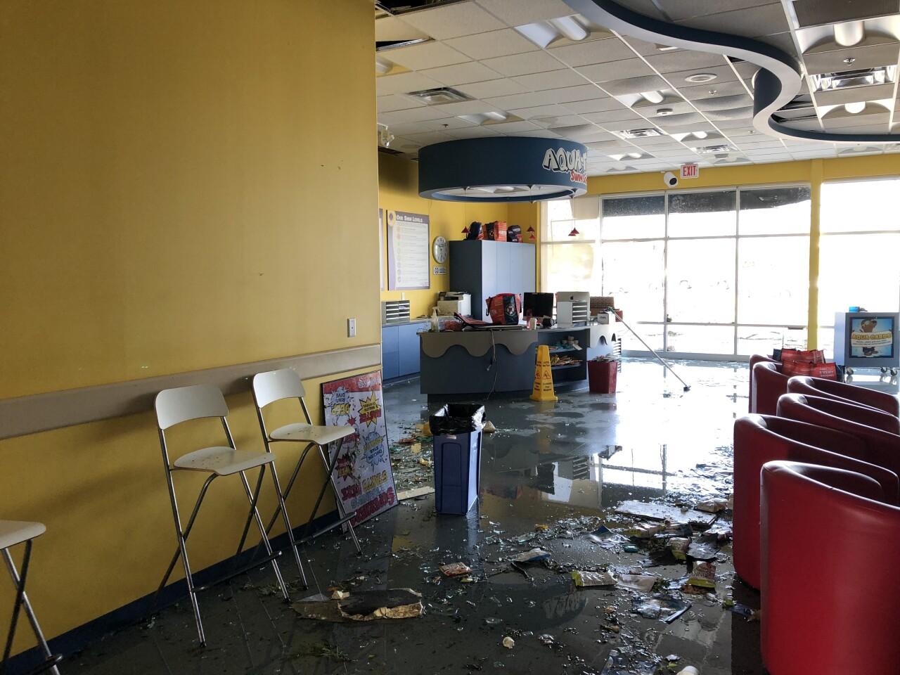 Aqua-Tots Swim School tornado damage