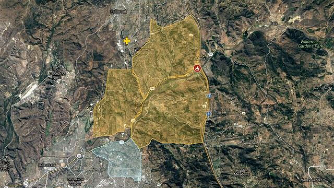 Interactive Map Lilac Fire Rips Through North San Diego County