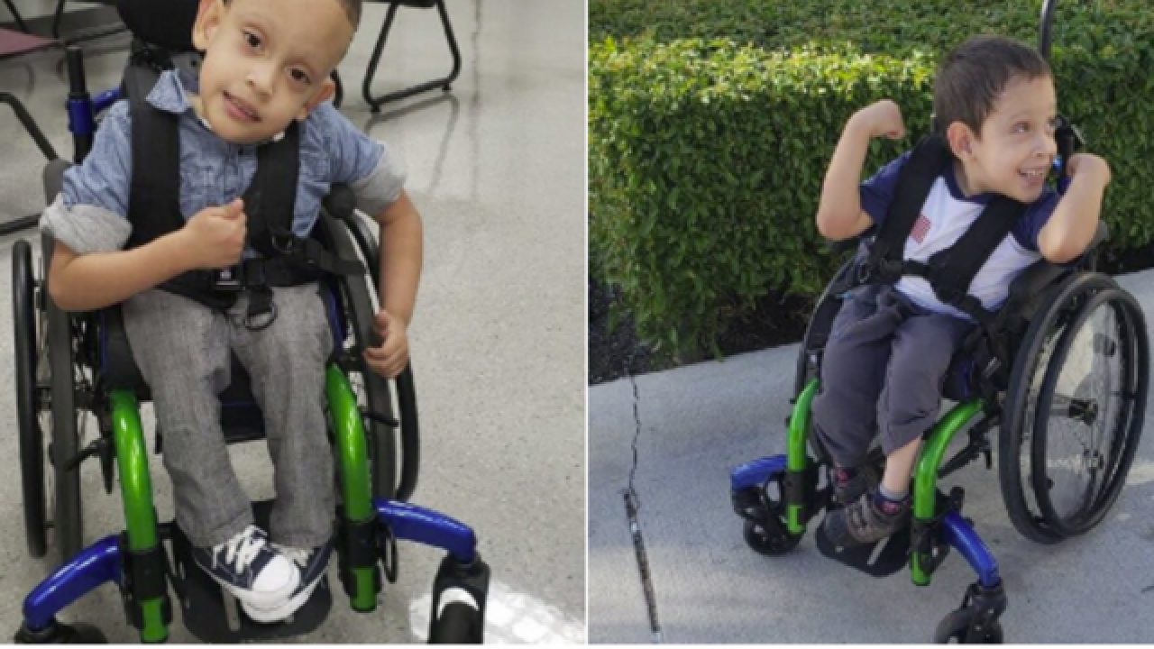 Have you seen this little boy's wheelchair?