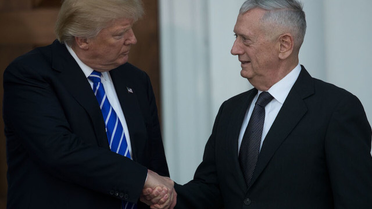 Mattis warns Trump that bombing Syria could escalate conflict