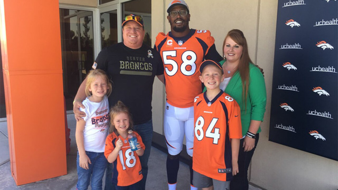 Broncos honor soldier who 'shouldn't be alive'