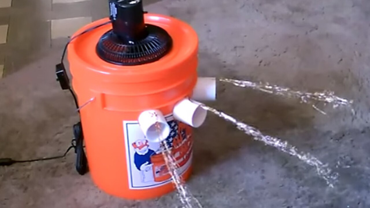 Diy Air Conditioner From A 5 Gallon Bucket For 25 Or Less