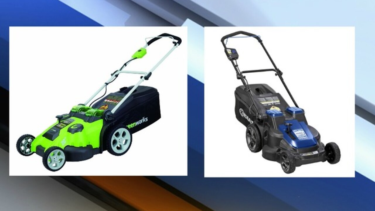 28,000 electric lawn mowers recalled due to a fire hazard