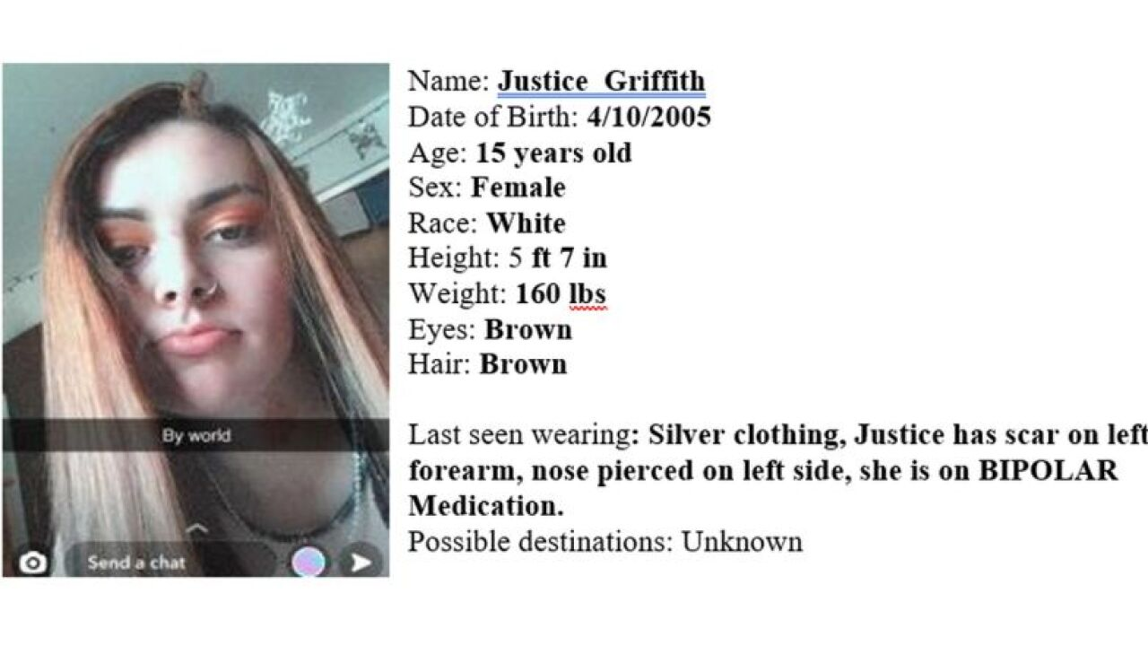 The Montana Department of Justice has issued a Missing-Endangered Person Advisory for Justice T Conway Griffith