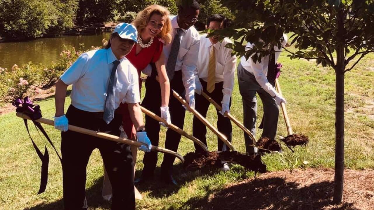 Tree planting celebrates 60 years of friendship between Norfolk, Japanese sistercity