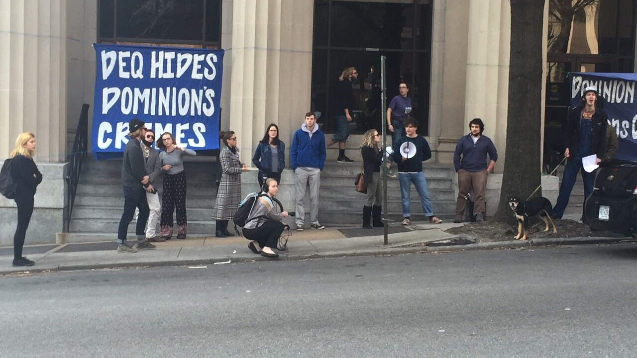 Students ticketed while protesting Dominion's coal ash wastewaterpermits