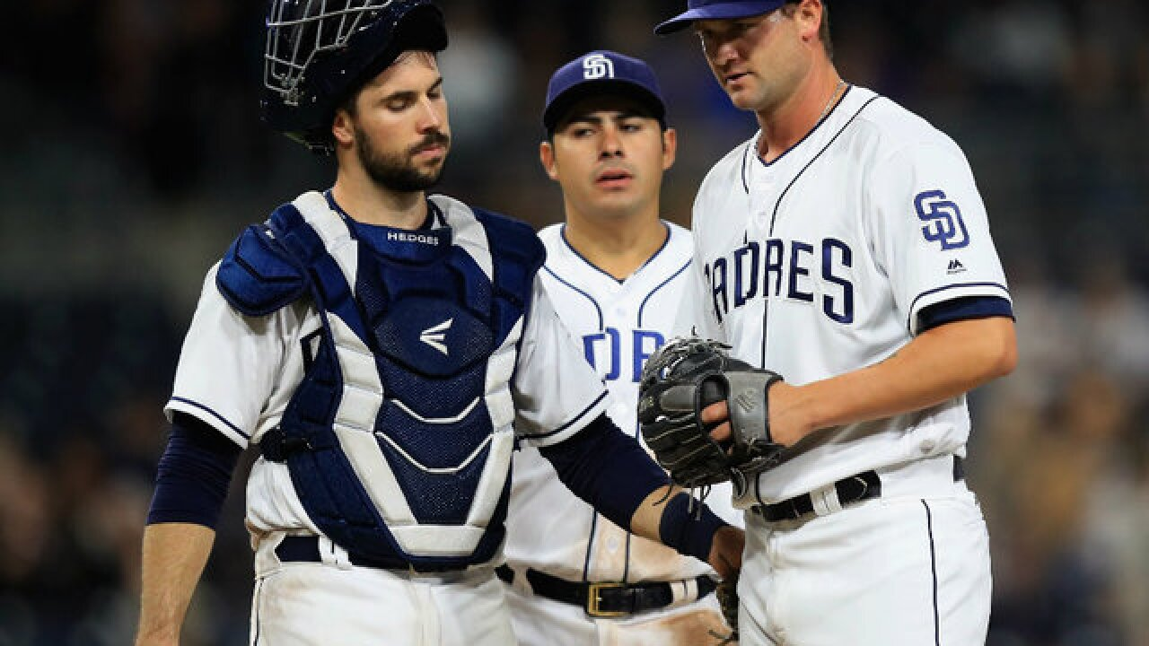 Padres muster only one hit in 7-0 loss to Giants
