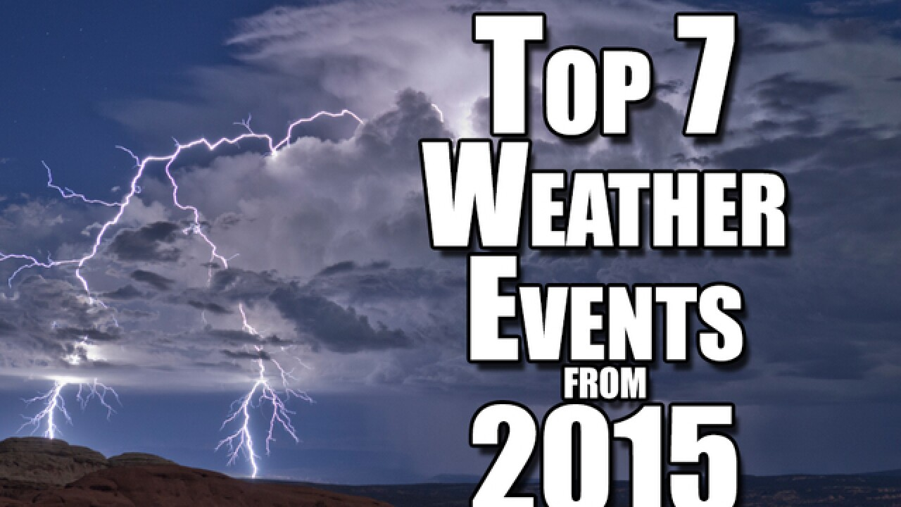 WATCH: Top 7 weather events from 2015