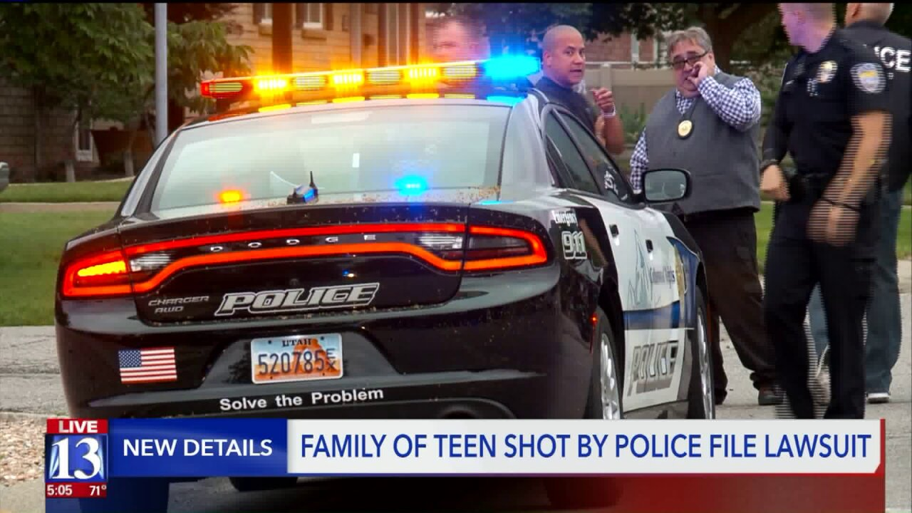 Family of teen shot by police fileslawsuit