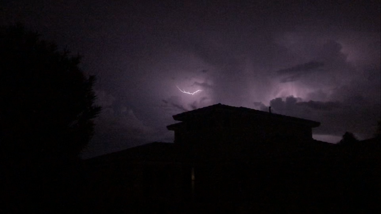 thunderstorm in the valley