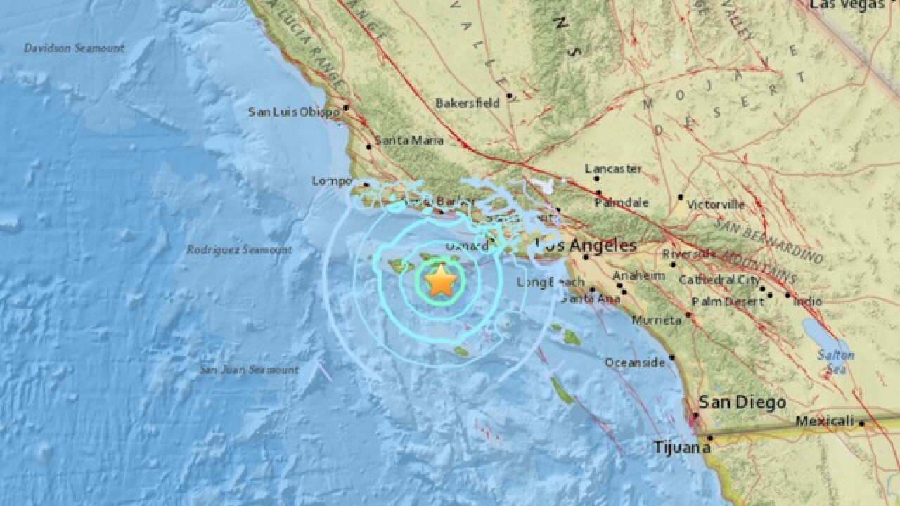 5.3 magnitude earthquake strikes off southern California coast