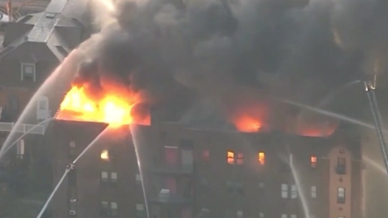 Philadelphia fire: At least 2 firefighters injured, 50 displaced in hours-long apartment blaze