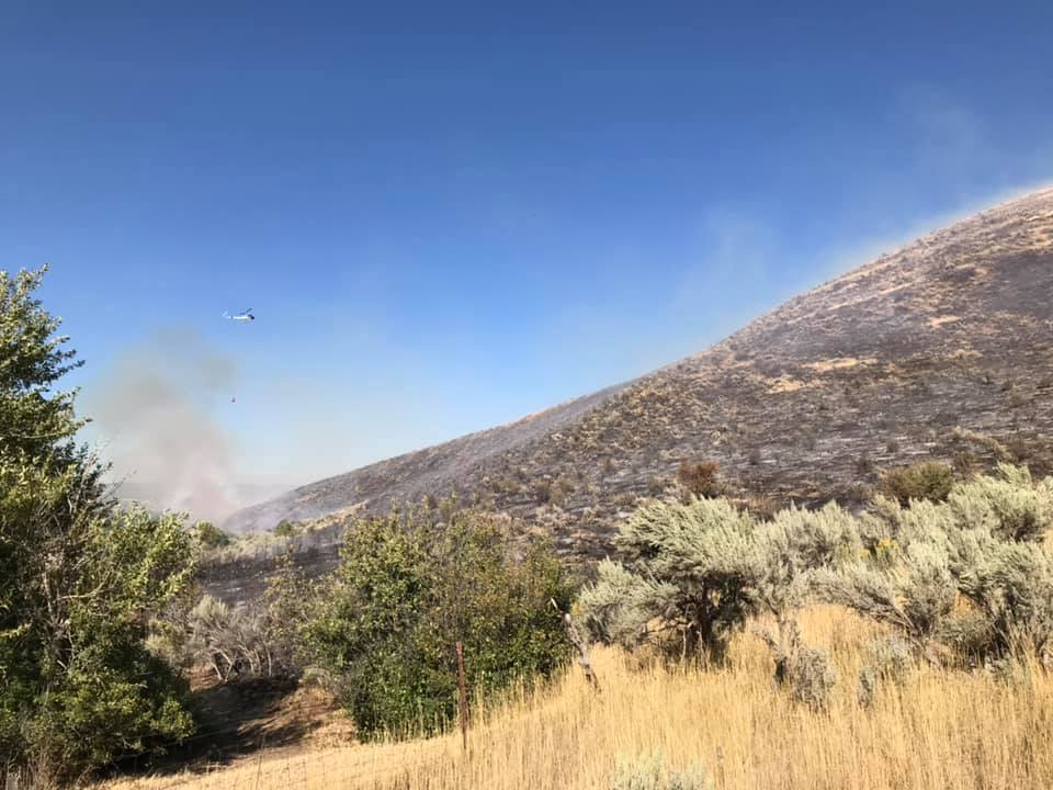 Photos: 'Deer Creek Fire' closes section of U.S. 189 in Heber Valley