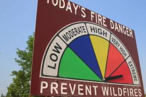 """Forecasters see """"above average fire danger for the Northern Rockies through September"""