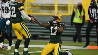 Aaron Rodgers Davante Adams 400th touchdown