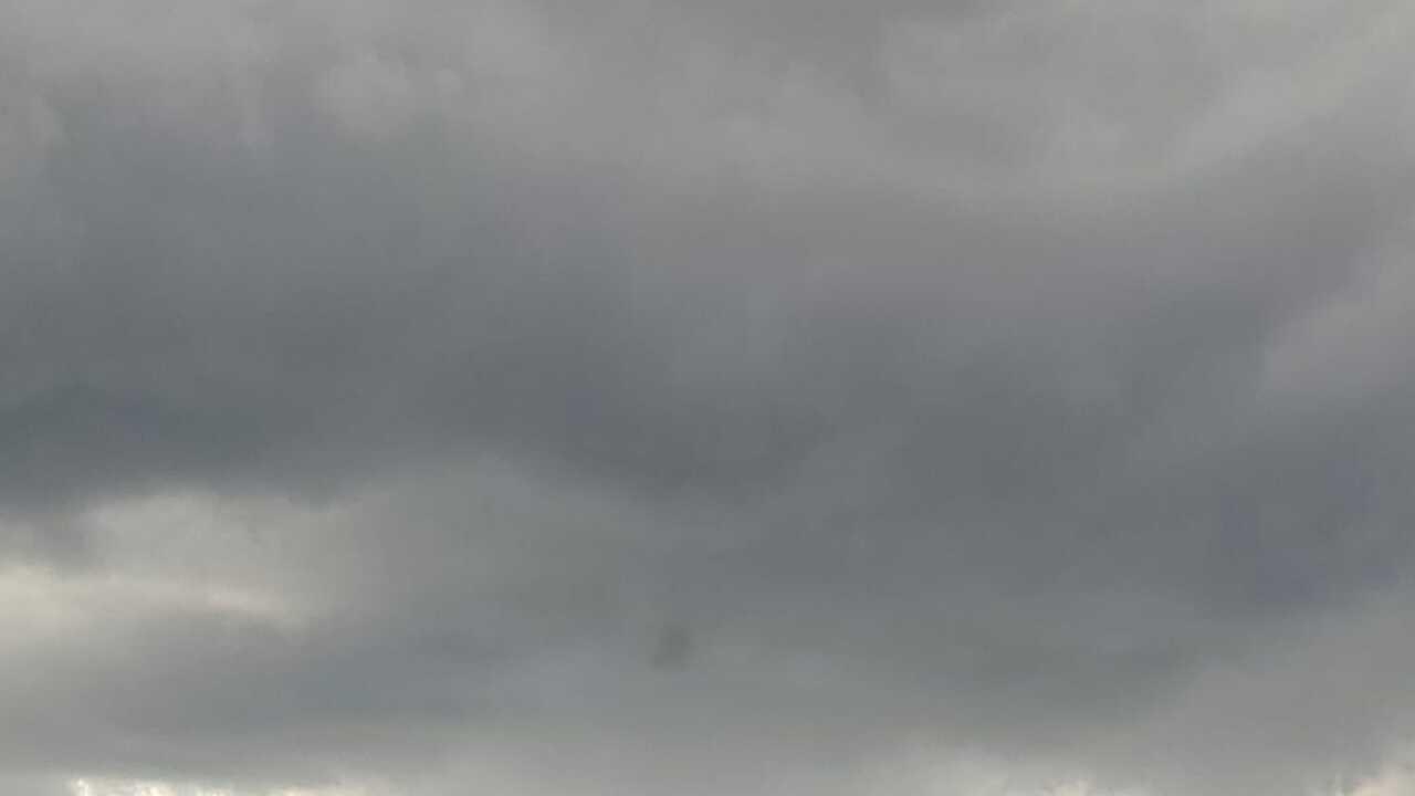 Showers Moving Through Mathis - Photo By: FB Coastal Bend Weather Watcher Kimberly Feltz Liscano