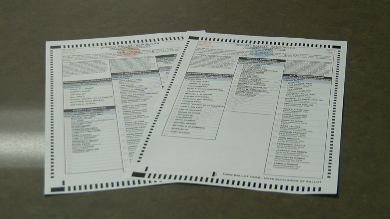 2020 California Primary ballots
