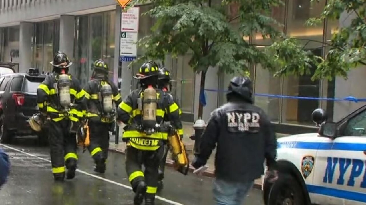A helicopter crash-landed on the roof of a New York City skyscraper. Then the building shook