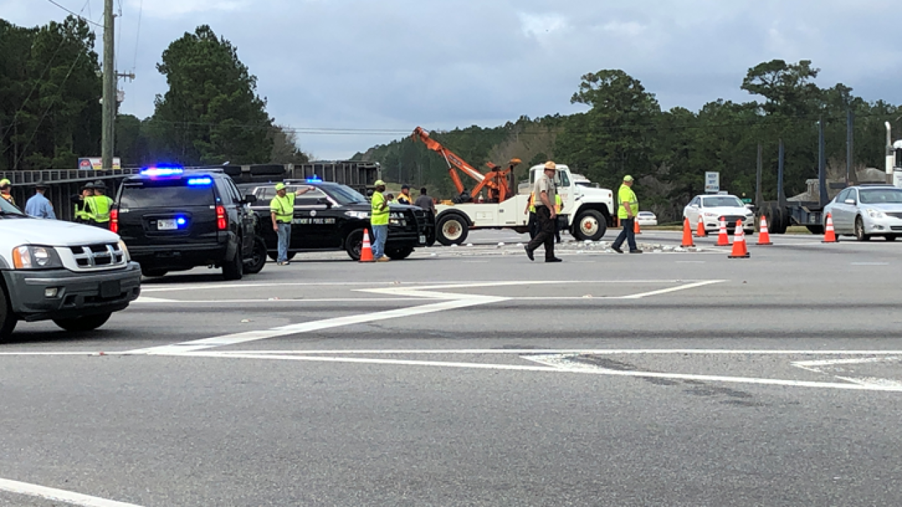 Hazardous material spill shuts down Highway 19 in Thomas County