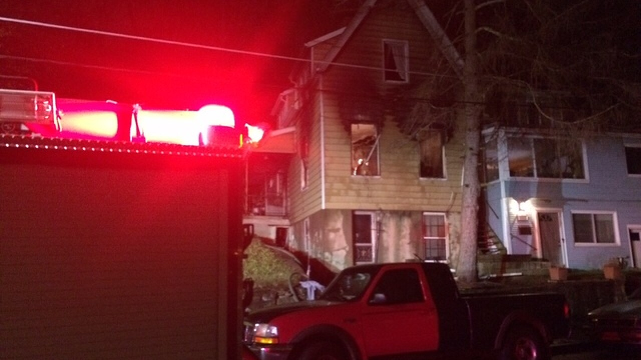 Ludlow fire sends man to hospital