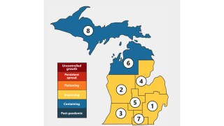 LIST: Here's what is still restricted in Michigan regions due to the COVID-19 pandemic