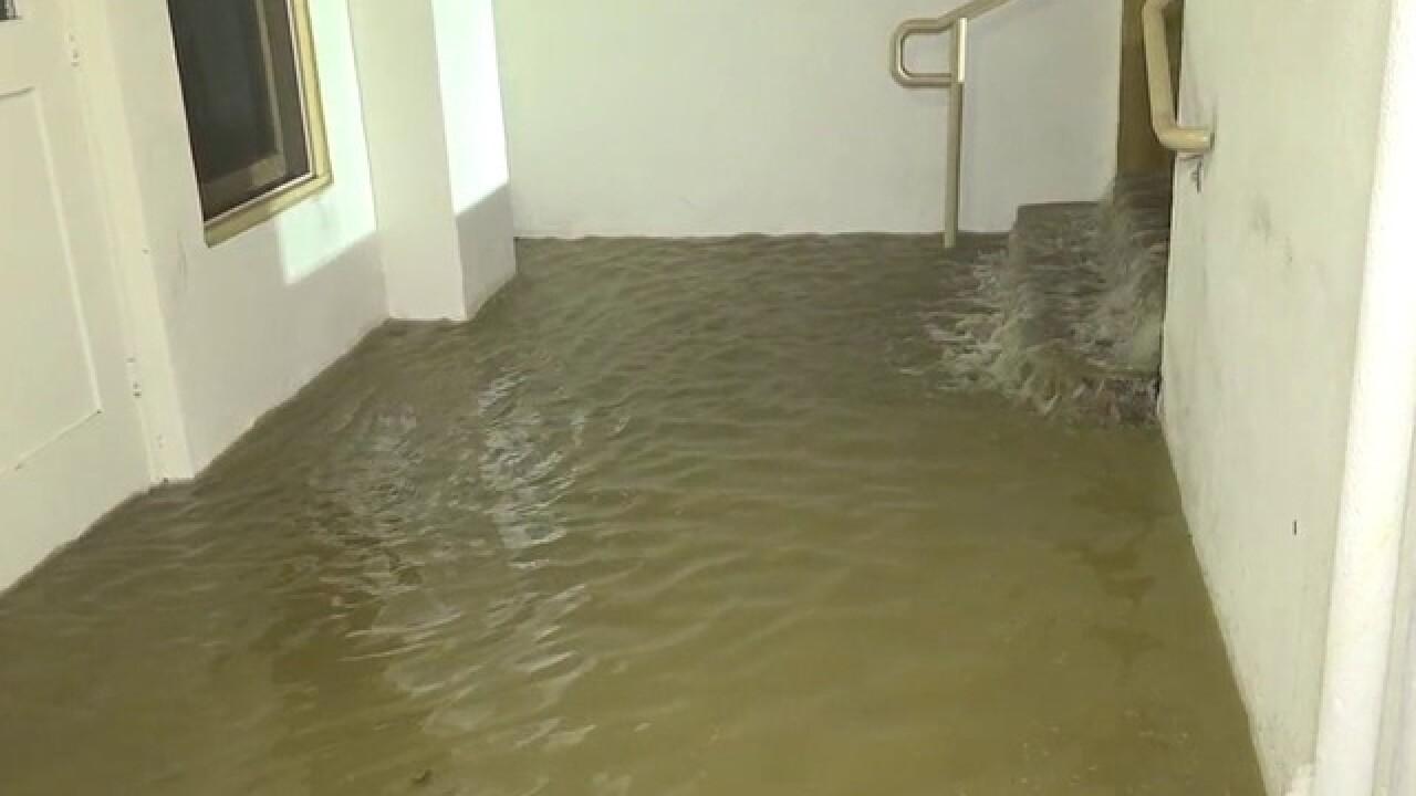 Water main break floods Mission Hills church