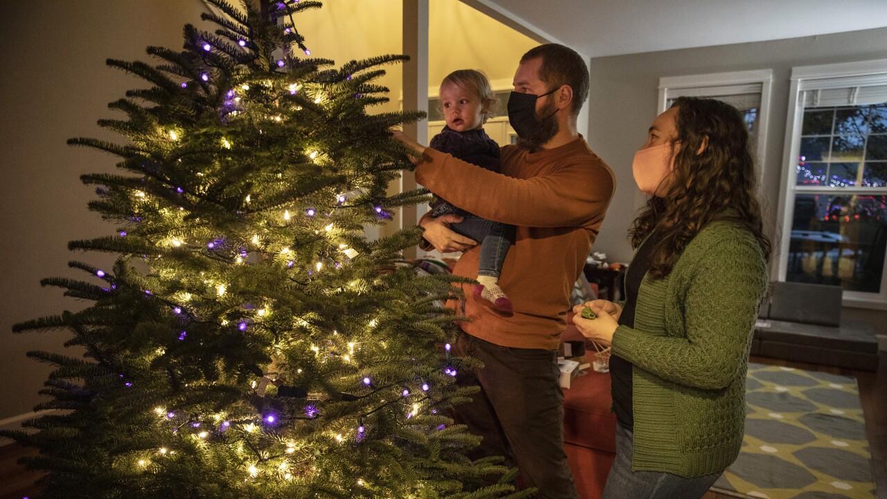 Virus Outbreak Christmas Trees