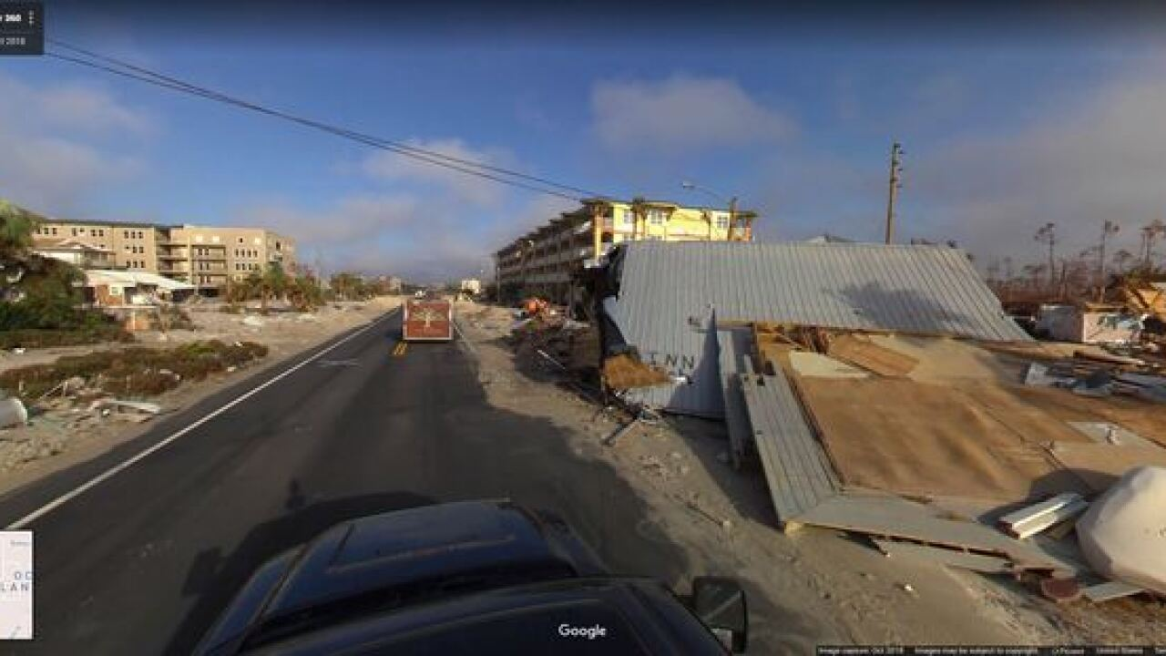 Street view shows hurricane destruction in Mexico Beach, Florida
