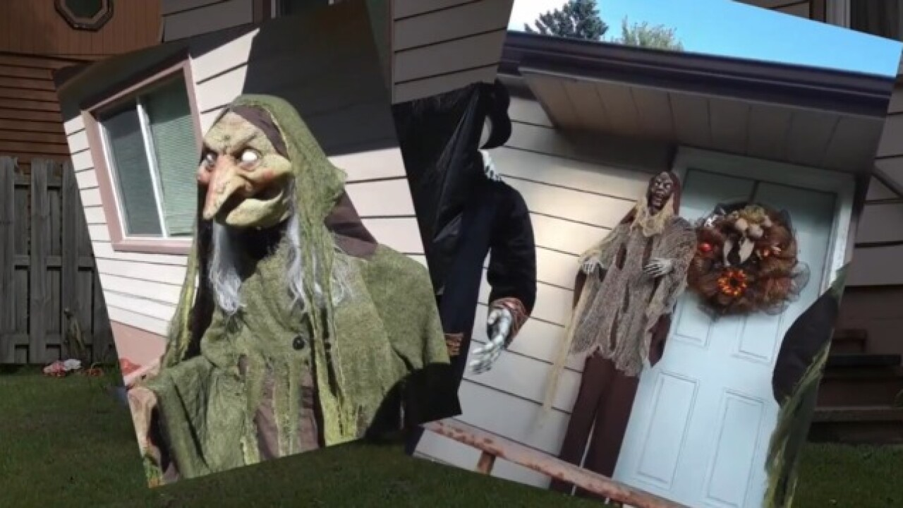 Thieves steal halloween decorations in Waterford