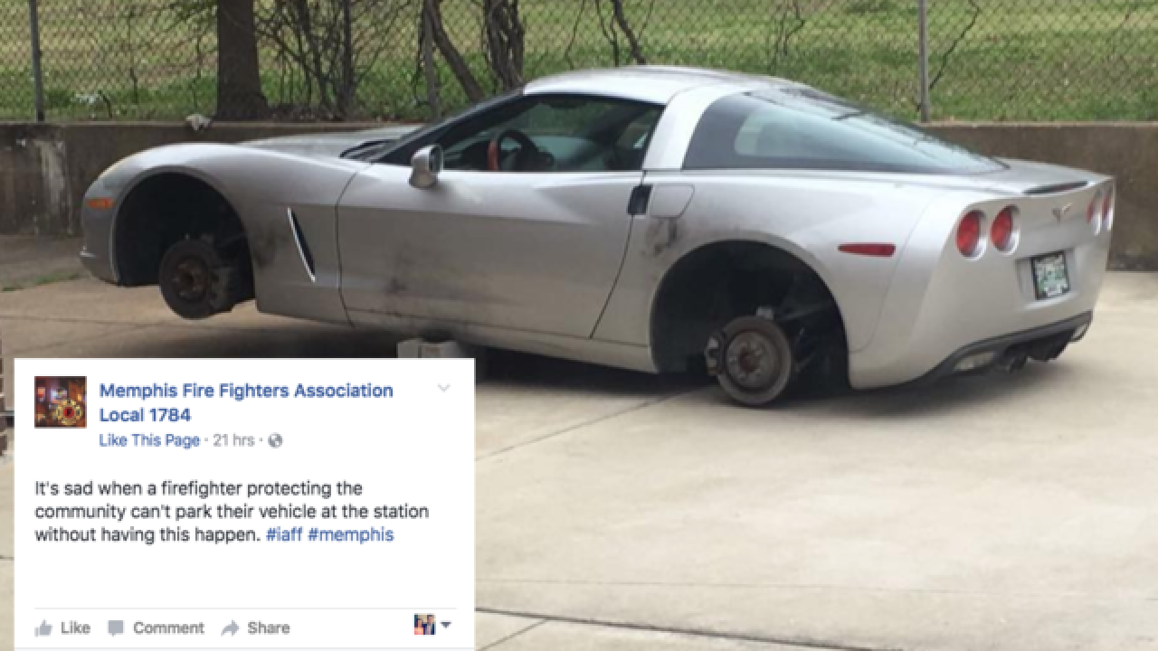 Memphis firefighter's Corvette stripped while parked outside fire house, union says