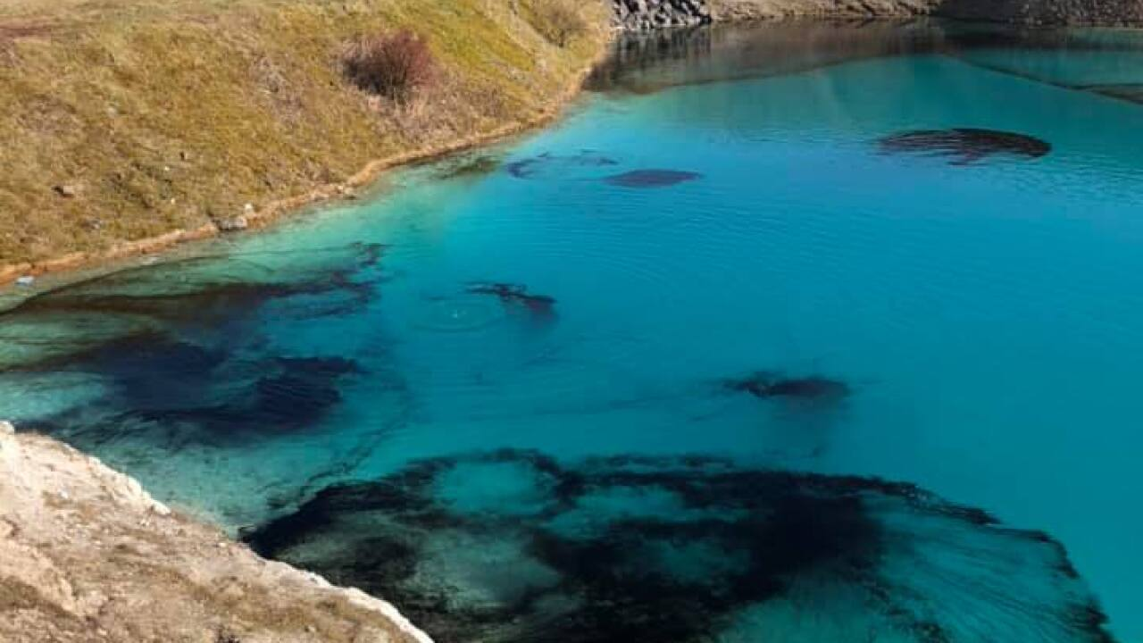 Police department in UK dyes local lagoon to deter visitors