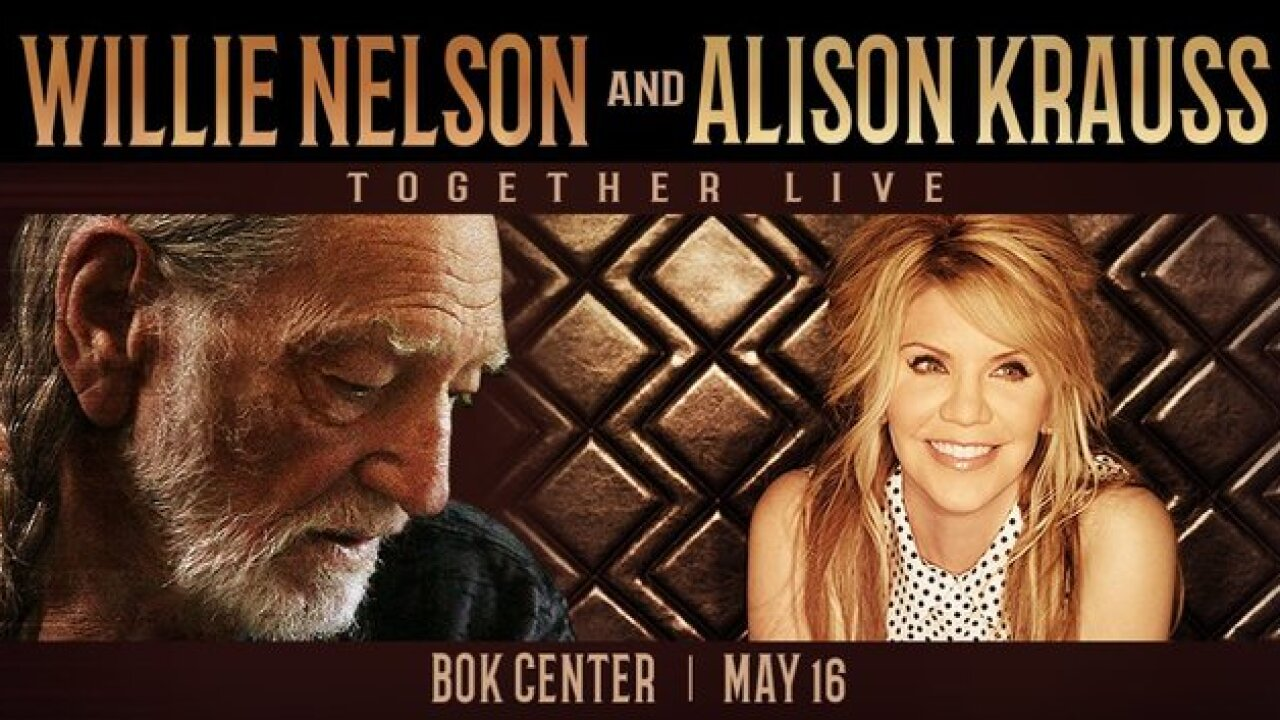 Willie Nelson and Alison Krauss to perform at BOK Center in May