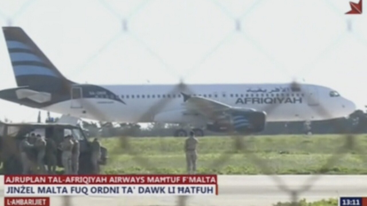 Libyan plane hijacked, diverted to Malta