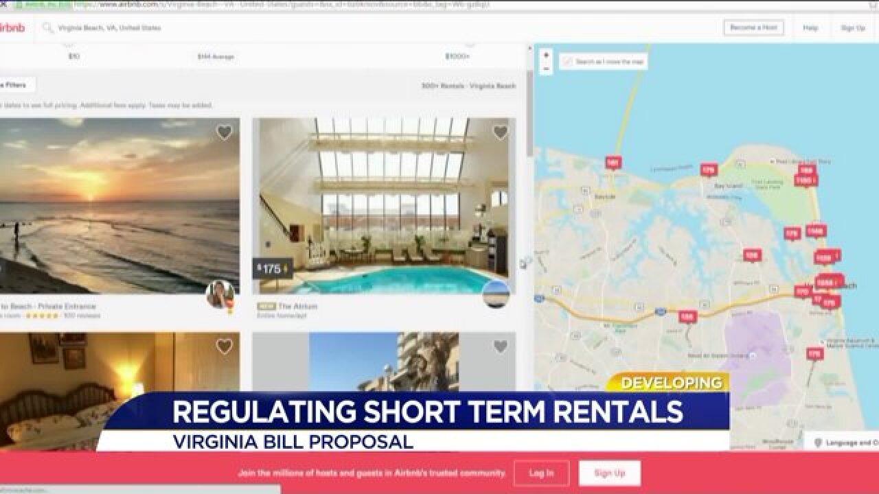 Bill on Senate floor would regulate Airbnb in Virginia, enforcing rules in VirginiaBeach