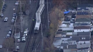 NJ Transit train derailment near Woodbridge station
