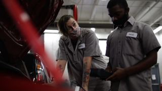 Students enrolled in Hillsborough Community College Auto Technician Program.