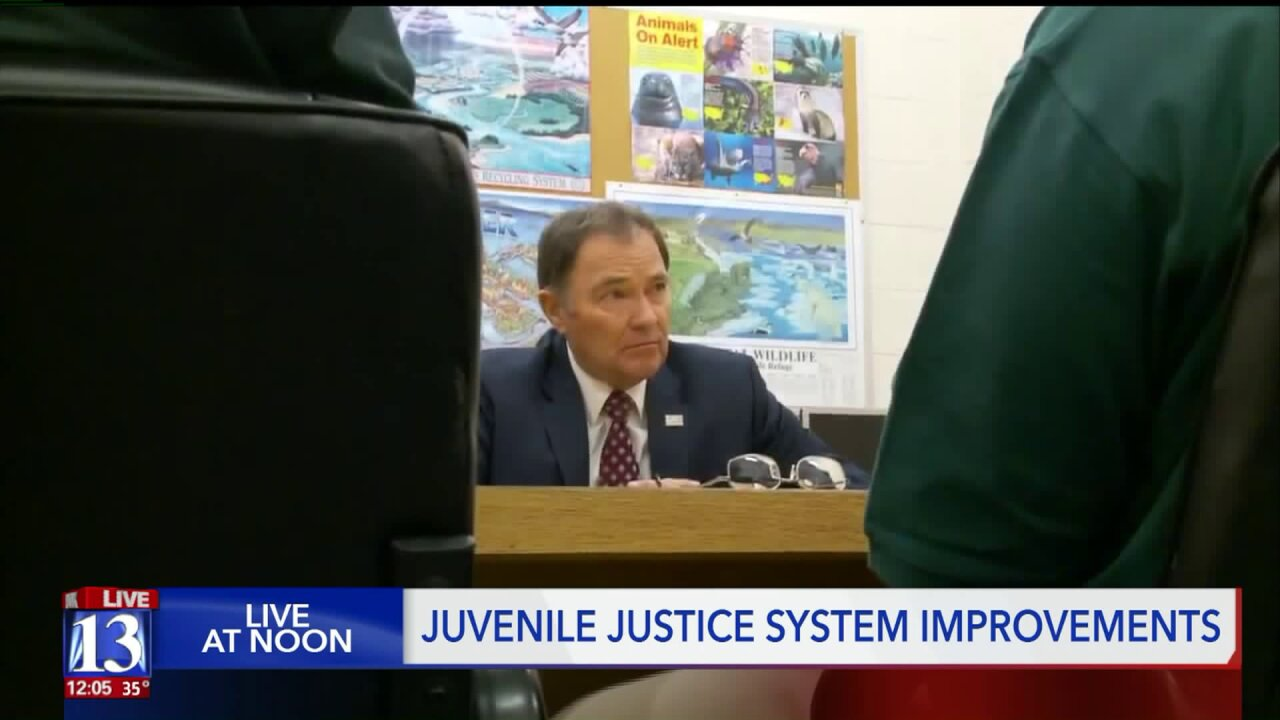 Gov. Herbert tours juvenile detention facility and talks with offenders on theirprogress