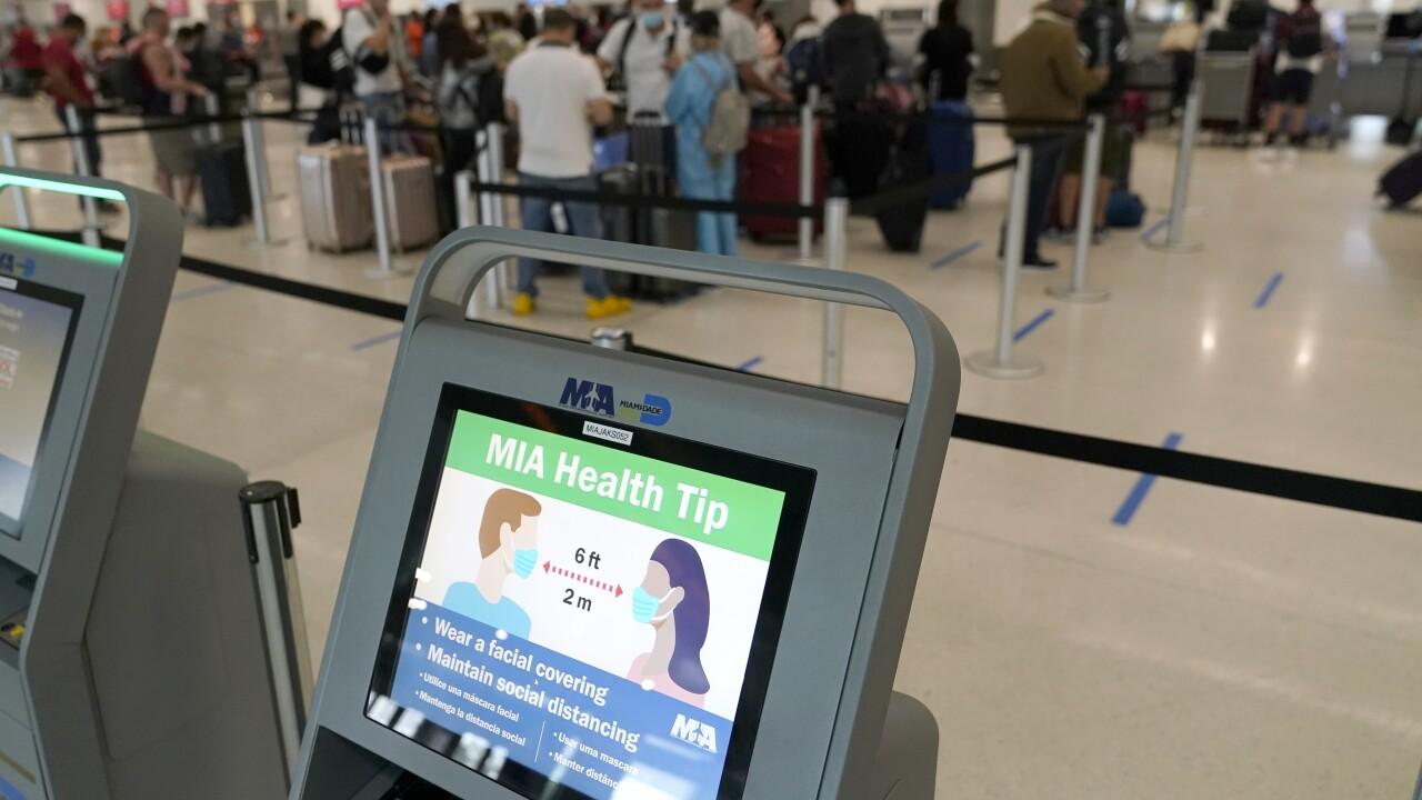 Virus Outbreak Holiday Travel Florida