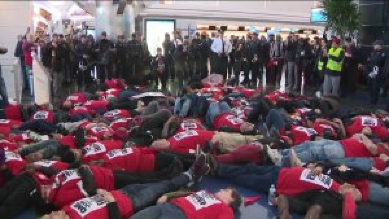 Dozens arrested during protest at JFK airport