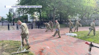 Utah National Guard Troops on clean-up detail at nation's capital