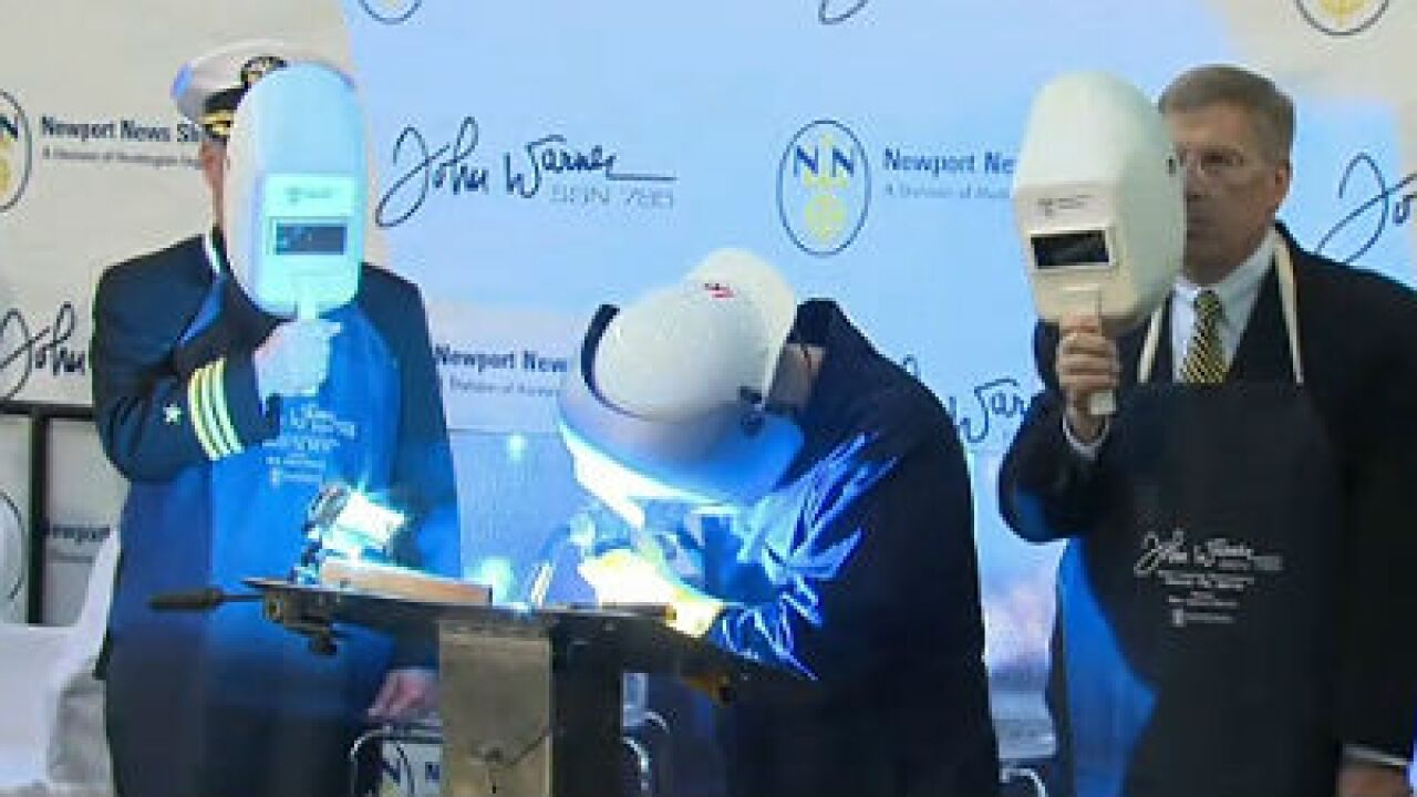 Shipyard holds keel-laying ceremony for the USS John Warner