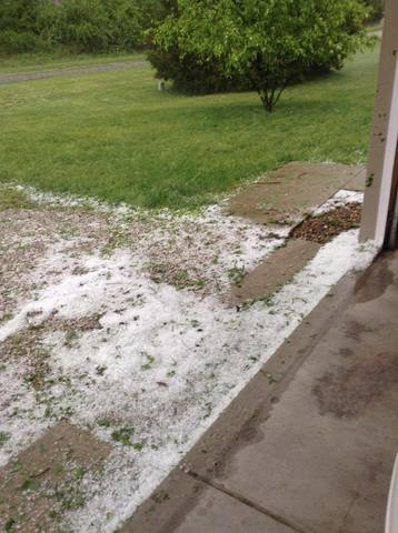 PHOTOS: Large hail, damage from severe storms across central Indiana