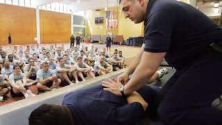 How are police officers trained to use force?