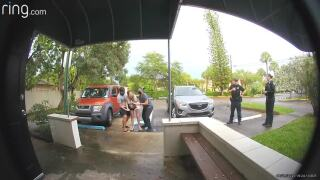 Doorbell video shows woman giving birth in Florida birthing center parking lot