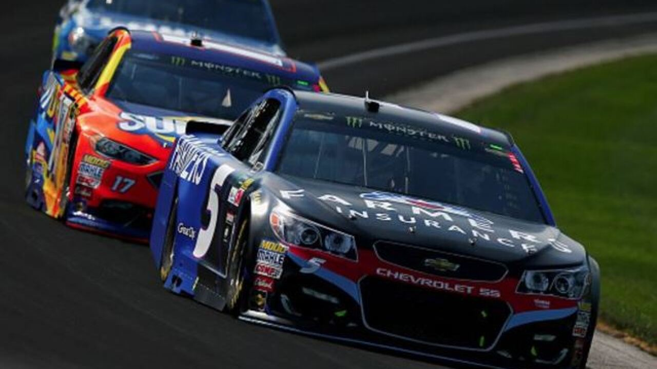 Kasey Kahne wins the 24th annual Brickyard 400 at the Indianapolis Motor Speedway