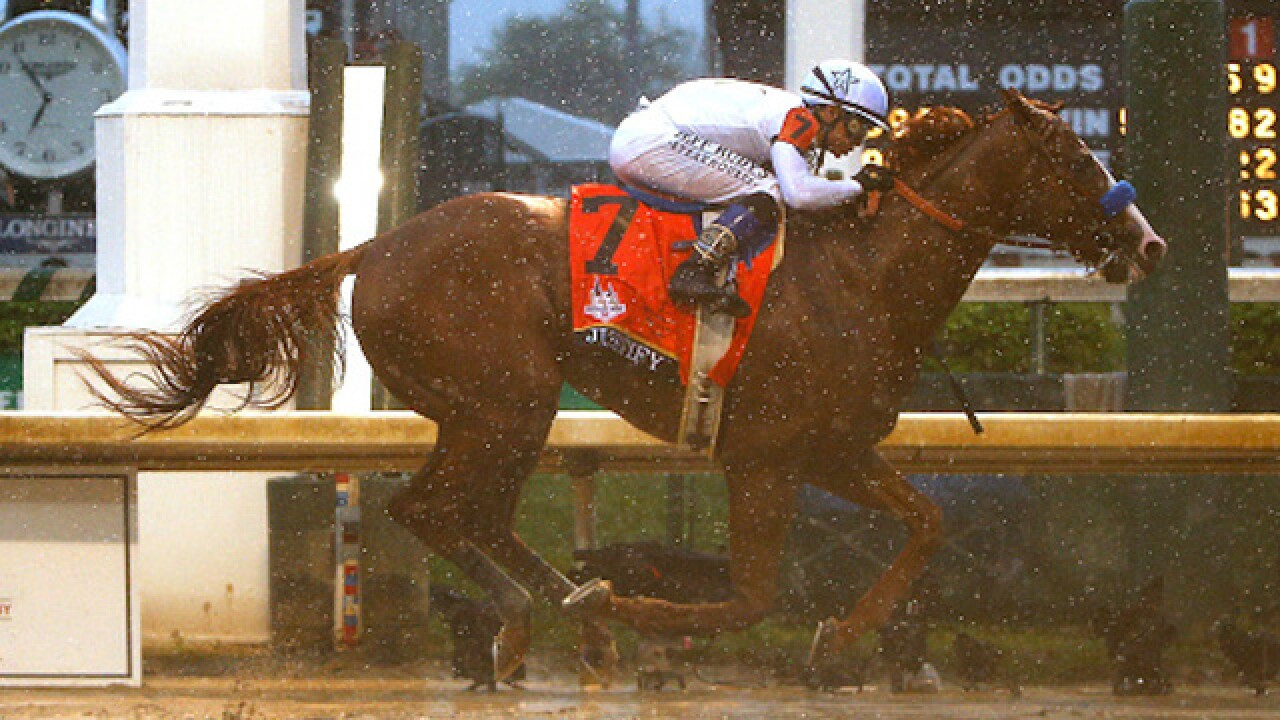 Justify wins Kentucky Derby on sloppy track