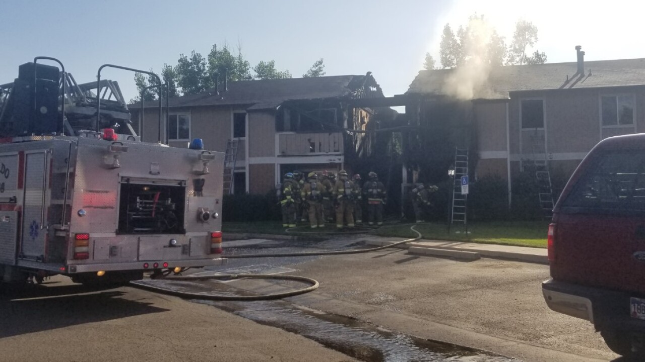 Apartment Fire on Knoll Ln.